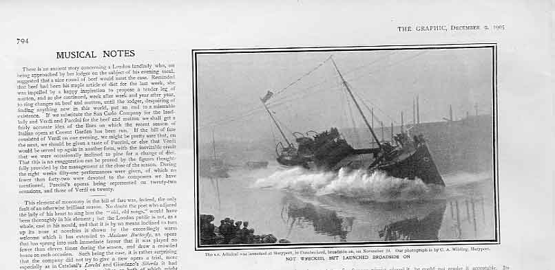 [Print Not Wrecked But Launched Broadside Mary Port Cumberland 94Bbb1 Old Original]