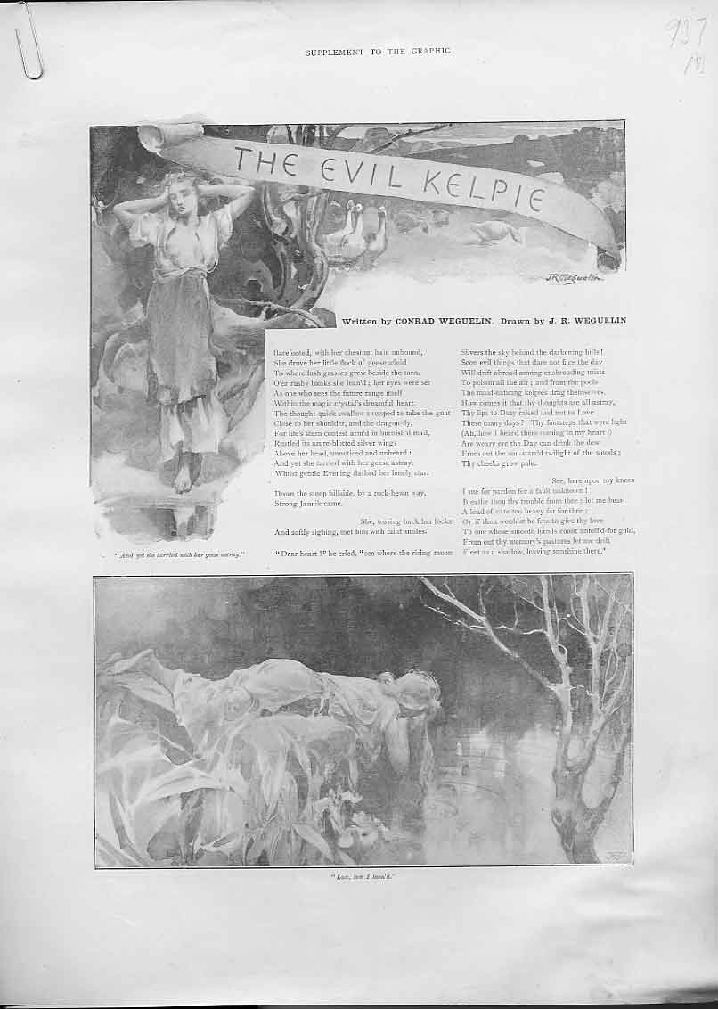 Print Evil Kilpie Illustraded Story By Weguelin 190 37Abbb1 Old Original