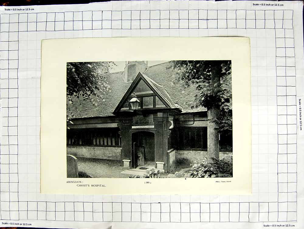 [Print Abingdon Christ'S Hospital Nicholas Church Abbey 116Rg108 Old Original]