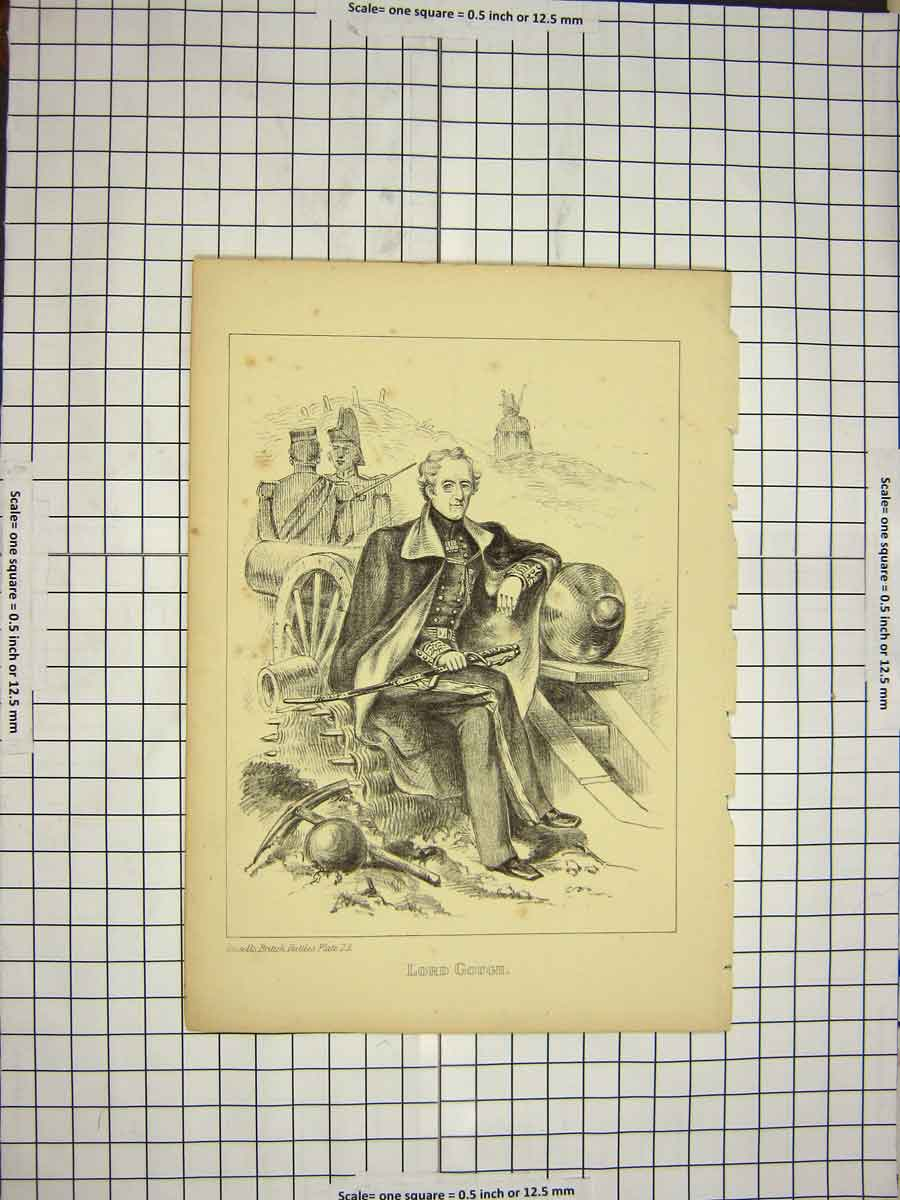 [Print C1790-C1900 Portrait Lord Gough British War 145G116 Old Original]