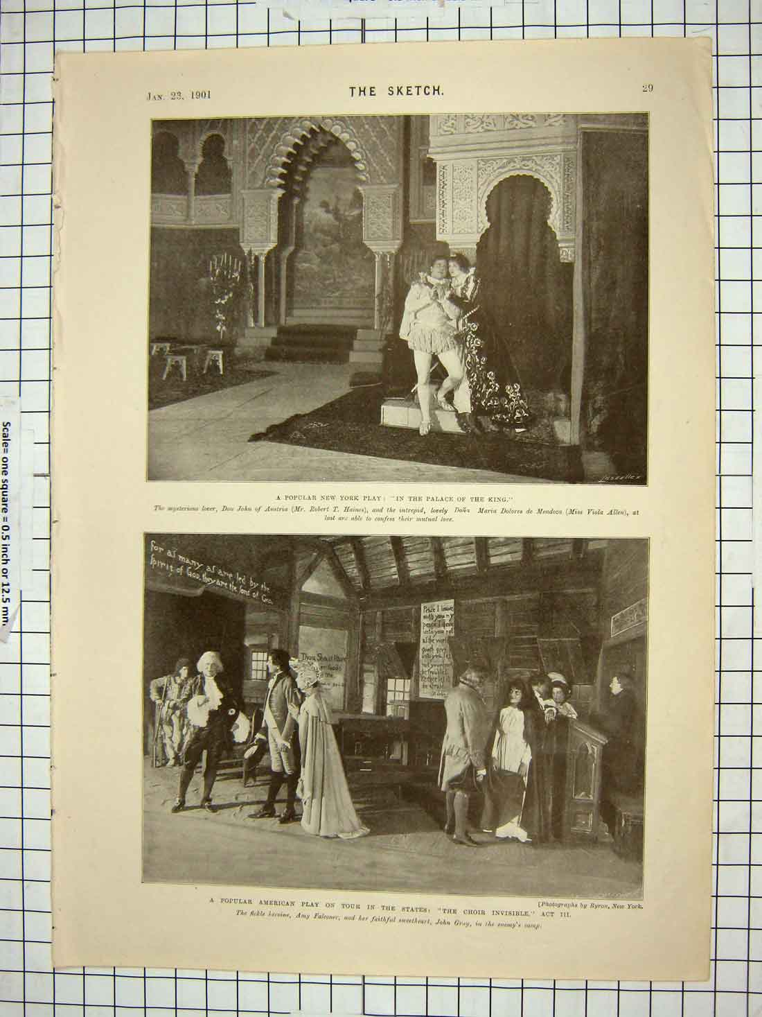 [Print 1901 New York Play Palace King Choir Invisible Theatre 125G178 Old Original]