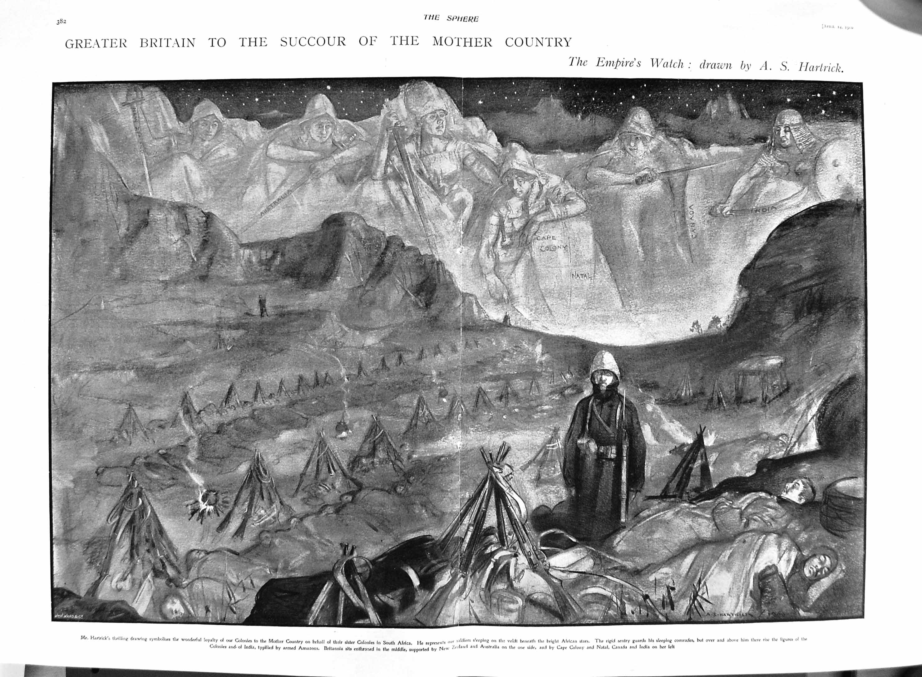 [Print 1900 Africa War Cape Colony Natal Hartrick Drawing 381Tg302 Old Original]