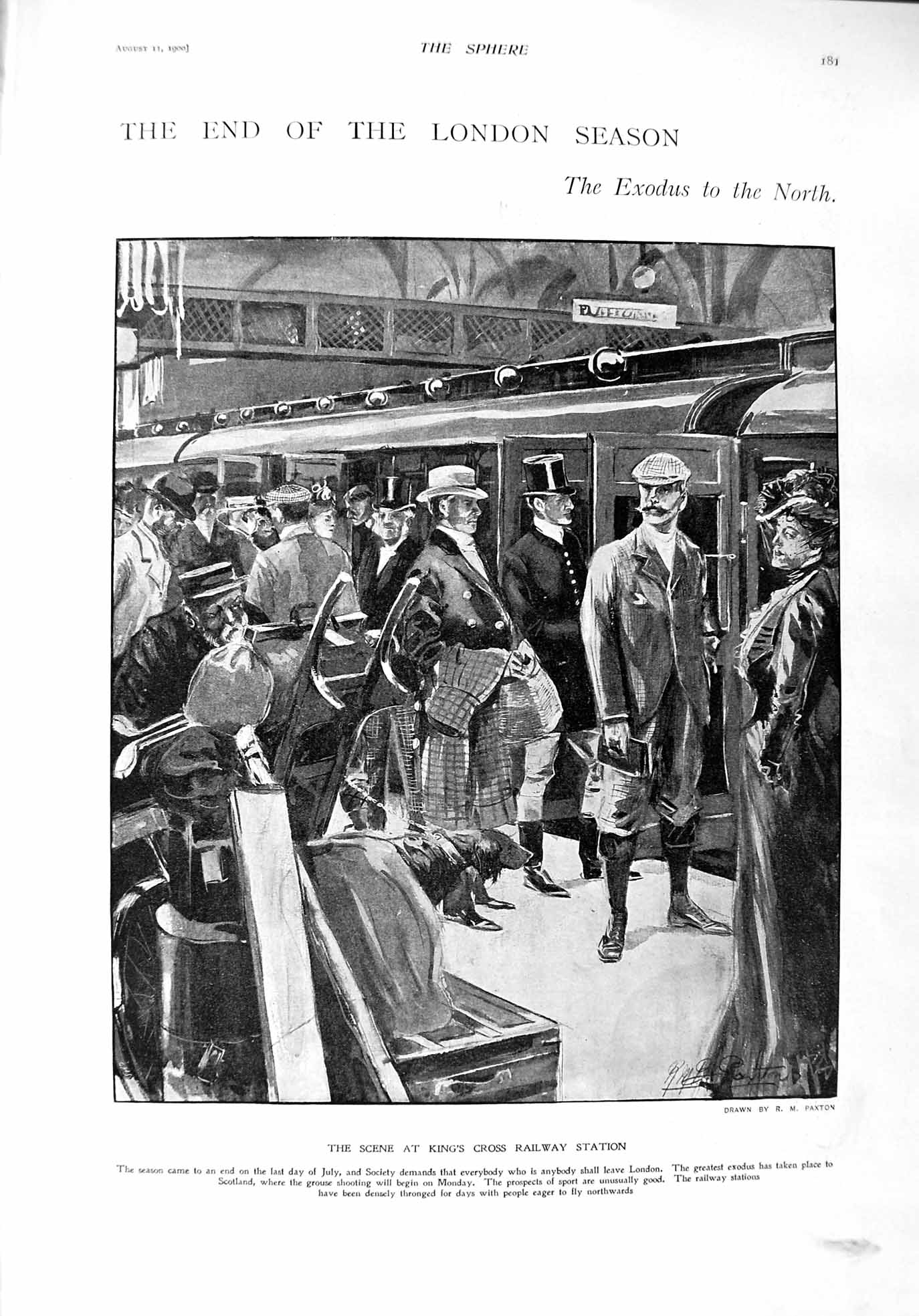 [Print 1900 King'S Cross Railway Station Avalanche Klosters 181G303 Old Original]