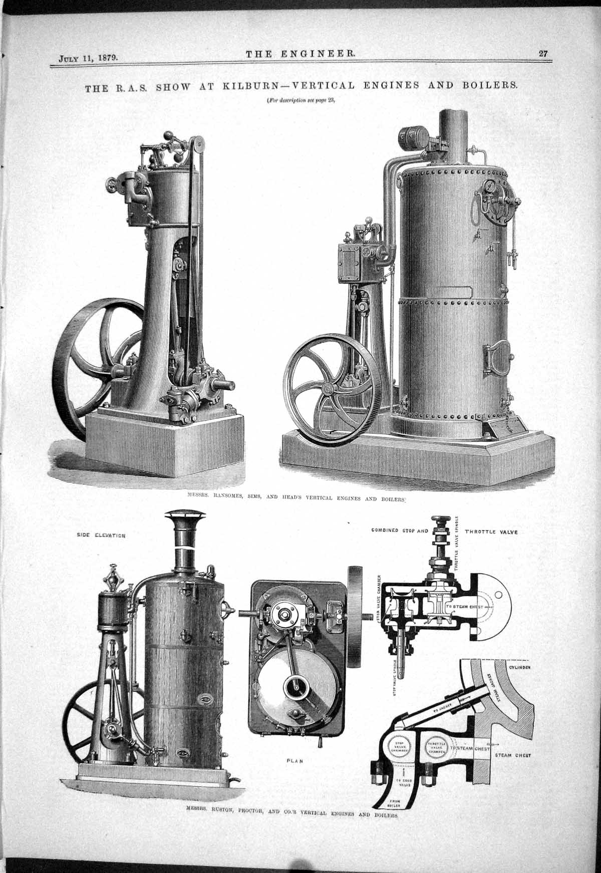[Print Show Kilburn Engines Boilers Ruston Proctor Ransome Sims R.A.S. 1 027J048 Old Original]