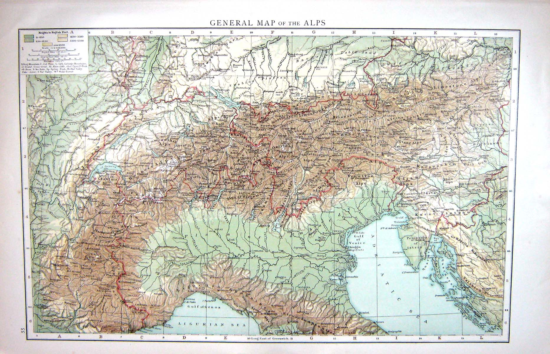 Diagram Free Collection Alps Mountains Map And Details World ...