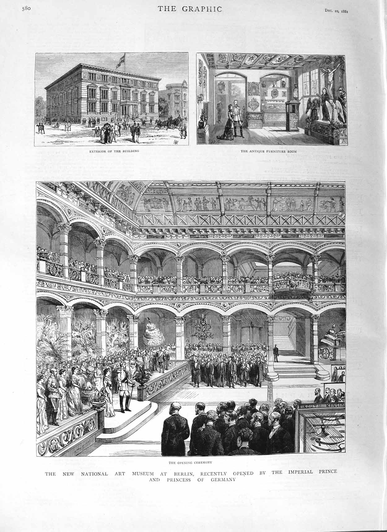 [Print 1881 National Art Museum Berlin Princess Germany 580M124 Old Original]