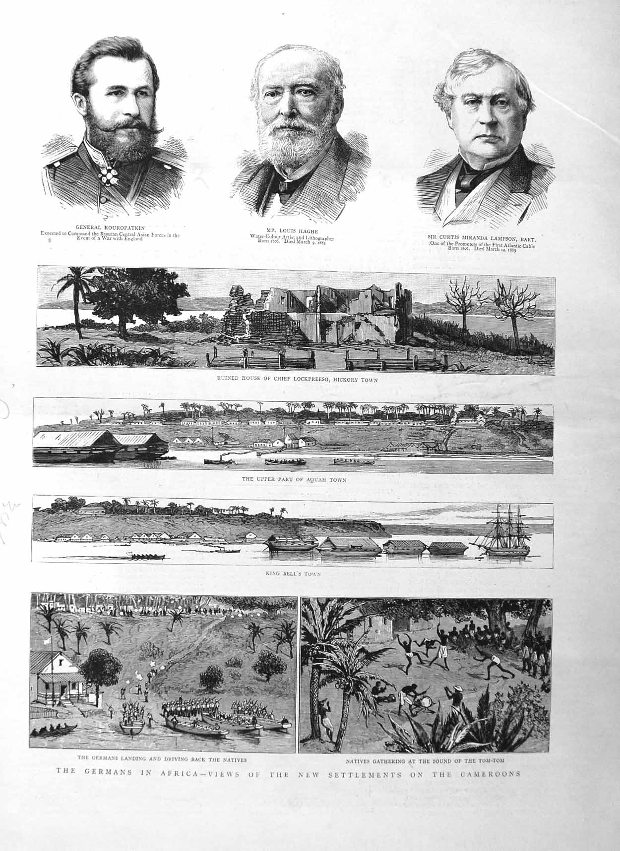 [Print 1885 Germans Africa Cameroons Lockpreeso Haghe Lampson 280M131 Old Original]