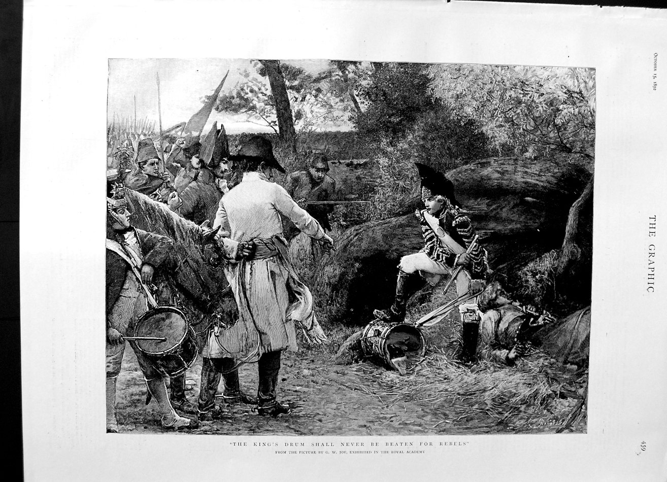 [Print 1892 Soldiers King'S Drum War Horse Country Fine Art 459M144 Old Original]