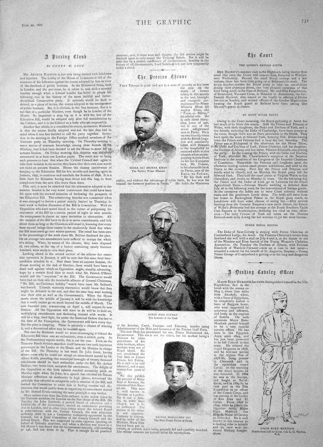 [Print 1896 Nile Alimooleh Aghaba Banquet Guy'S Hospital 728M153 Old Original]