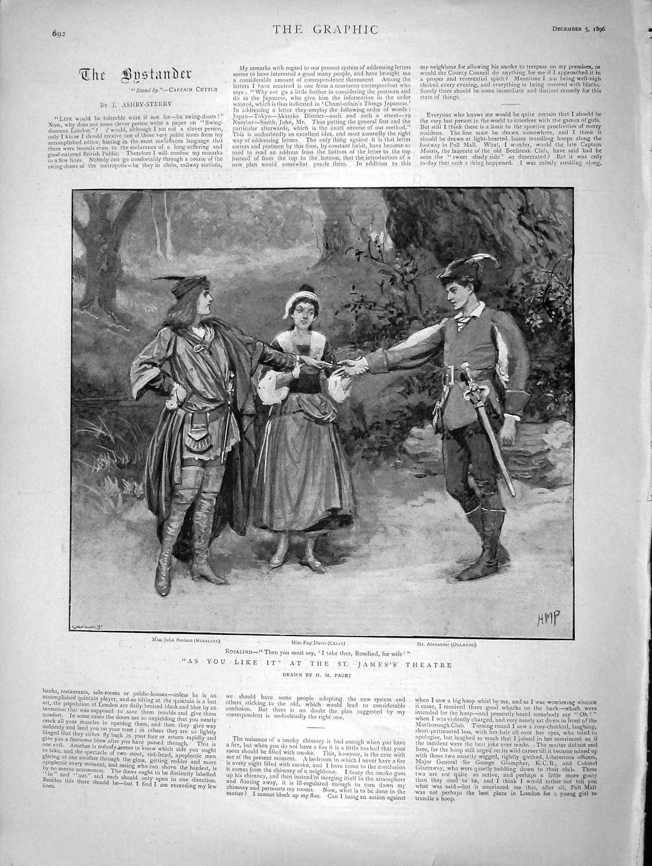 [Print 1896 As You Like It St. James'S Theatre Fay Davis  Old Original]