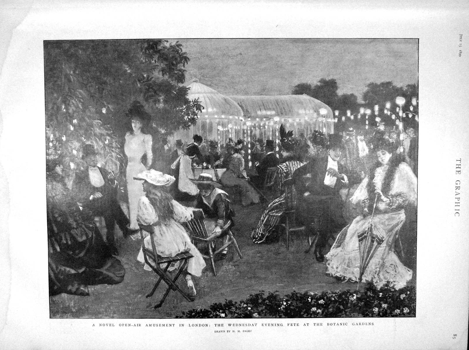 [Print 1899 Botanic Amusements London Duke Alexandrovitch 085M160 Old Original]