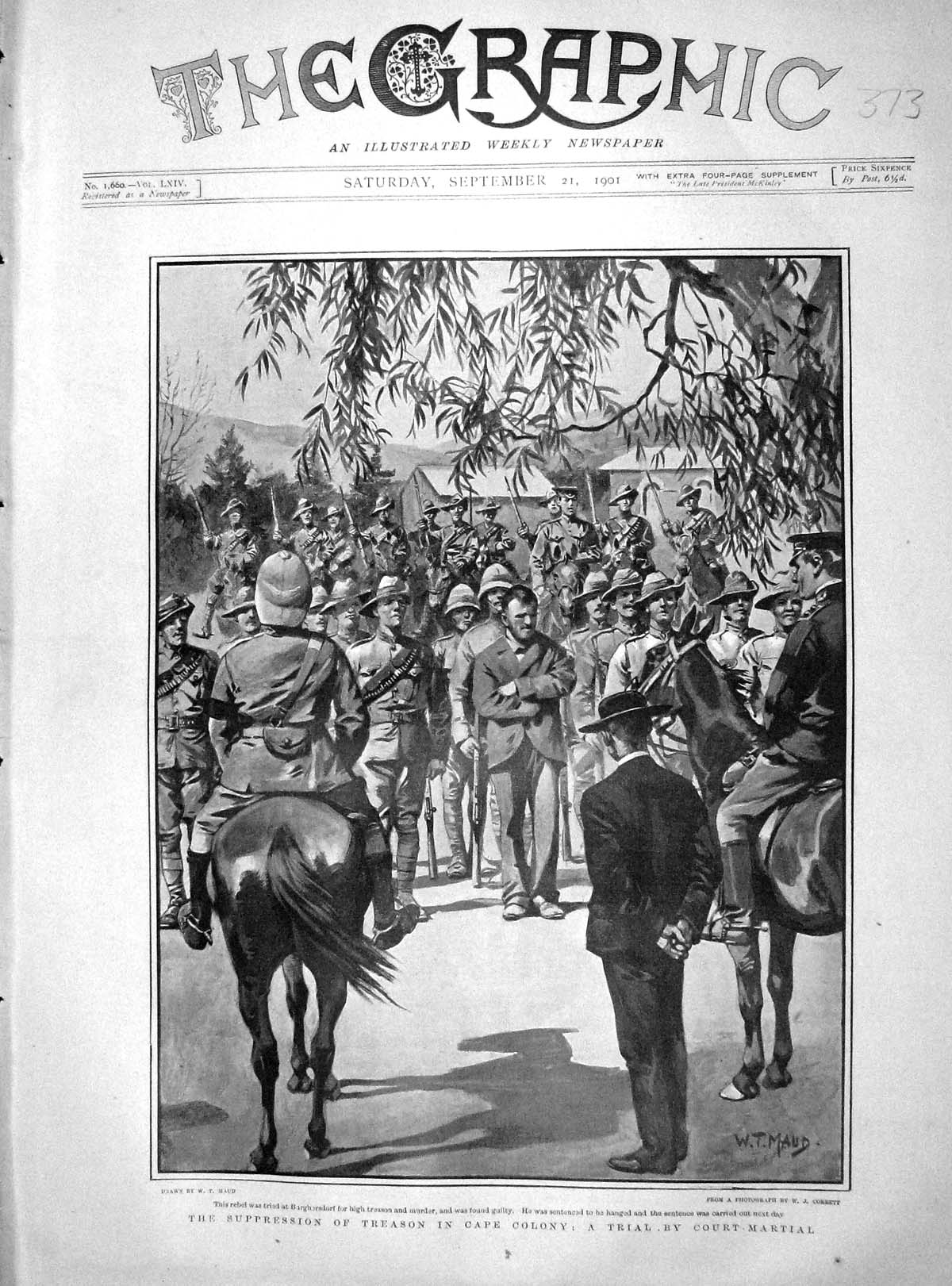 [Print 1901 Suppression Treason Cape Colony Court-Martial 373M164 Old Original]