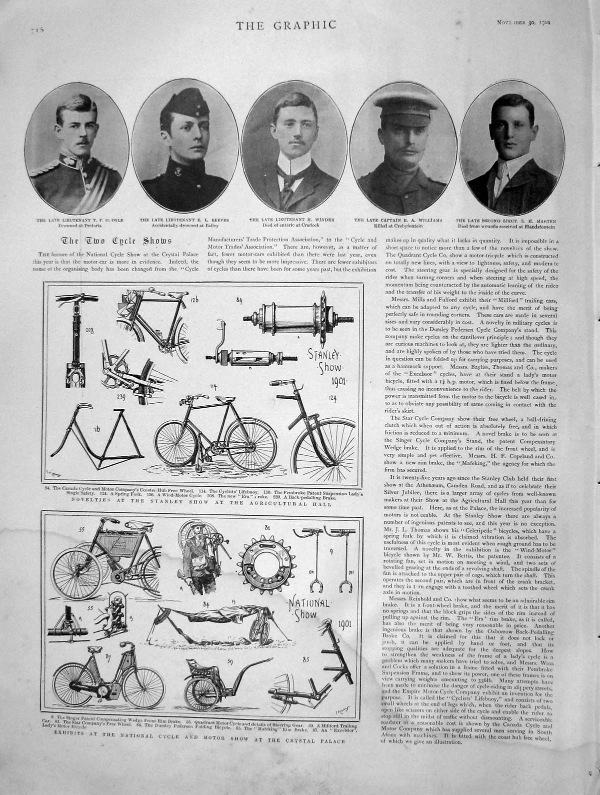 [Print 1901 Cycle Motor Show Crystal Ogle Winder Vatican Rome 716M164 Old Original]