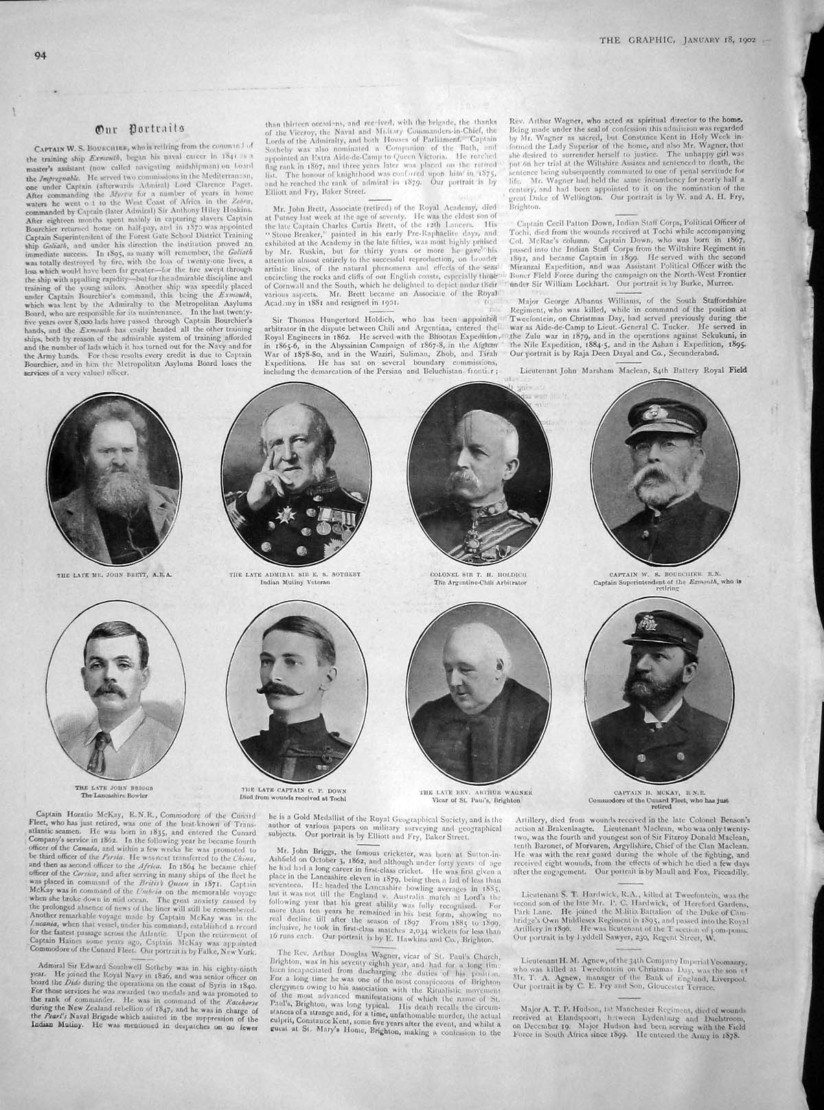 [Print 1902 Brett Southeby Down Wagner War Edward Coronation 094M165 Old Original]