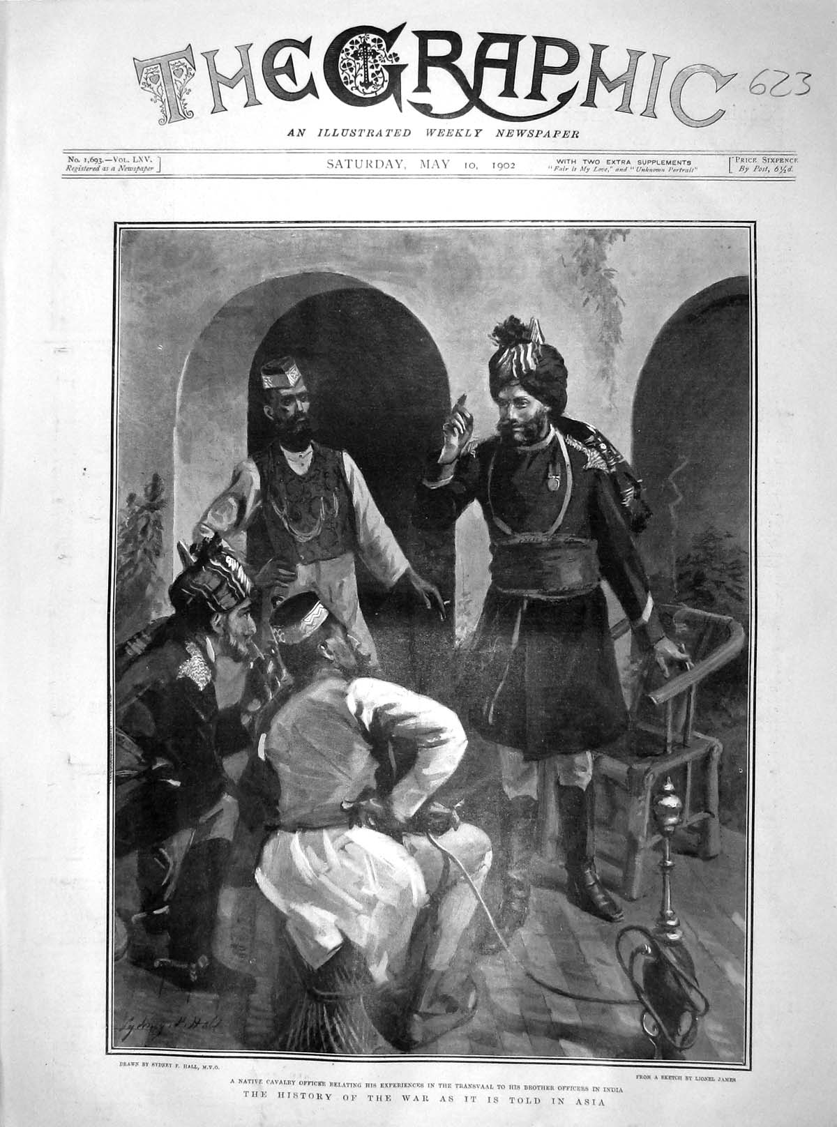 [Print 1902 Native Cavalry Officer Transvaal India Fine Art  Old Original]