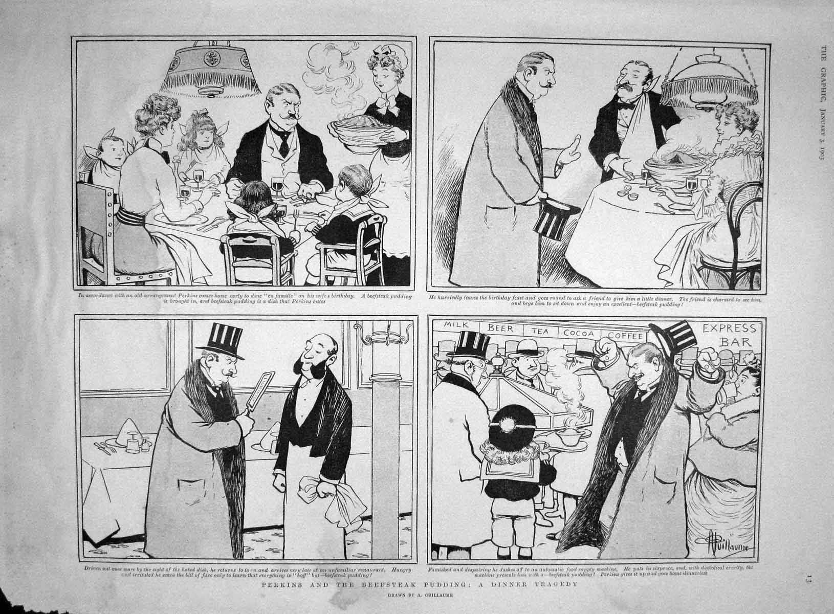 [Print 1903 Perkins Beefsteak Pudding Archbishop Canterbury 013M167 Old Original]