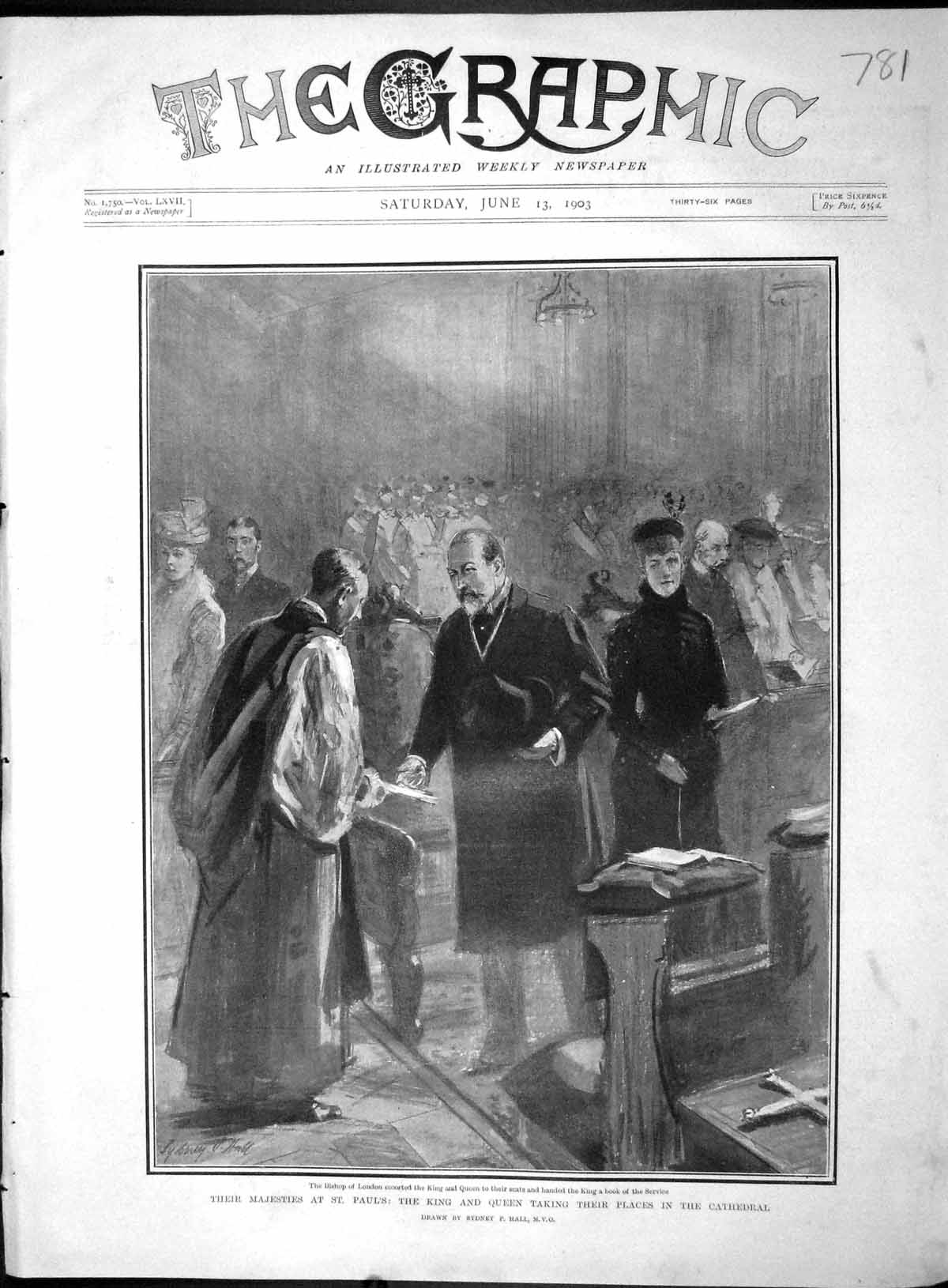 [Print 1903 Bishop London King Paul'S Cathedral Barclay Common 781M167 Old Original]