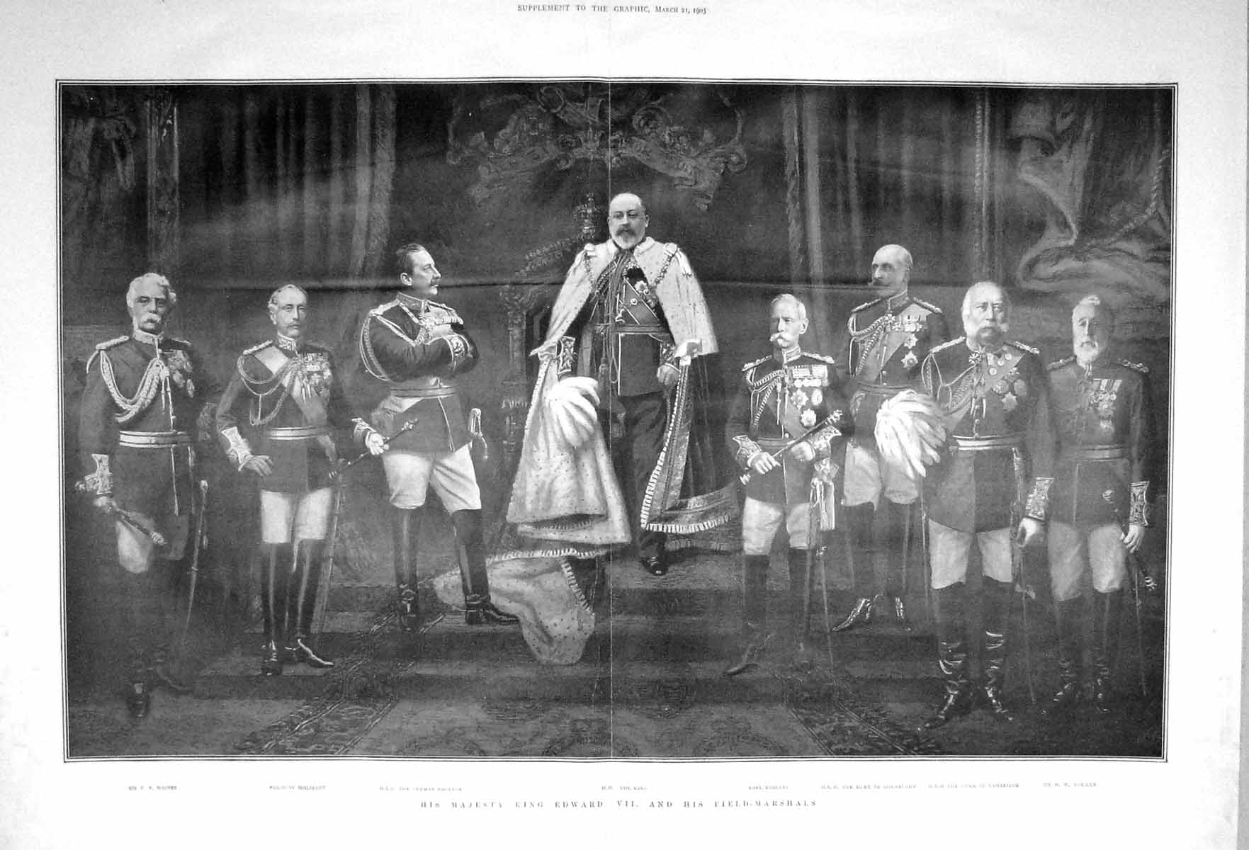 [Print 1903 King Edward Wolseley Haines Roberts Connaught 903Tm167 Old Original]