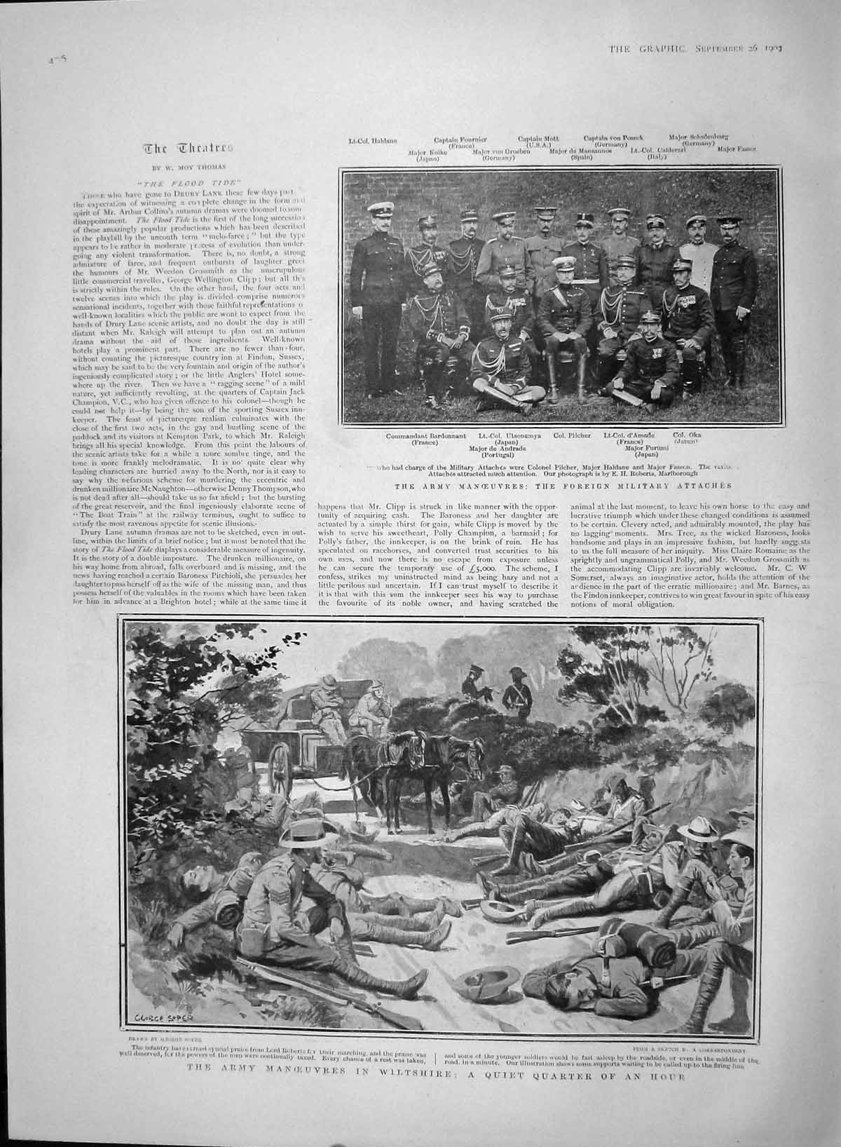 [Print 1903 Army Wiltshire Pilcher Andrade Royal Scots Surrey 406M168 Old Original]