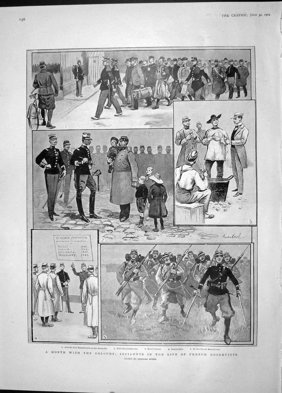[Print 1904 French Reservist War Ian Hamilton Feng-Hwang-Chang 156M170 Old Original]