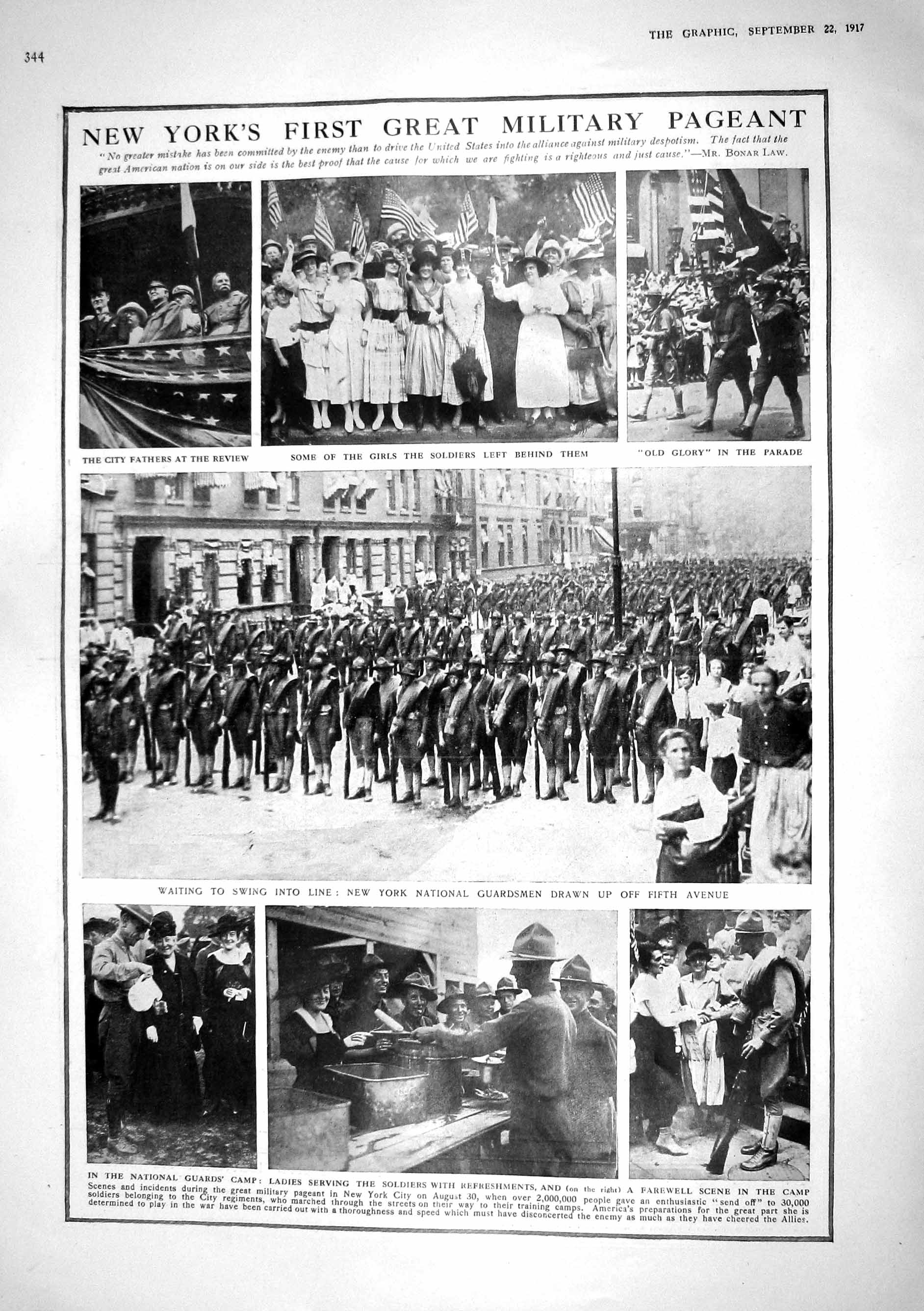 [Print 1917 New York Military Pageant National Guards War Map Sweden Ger 344M196 Old Original]