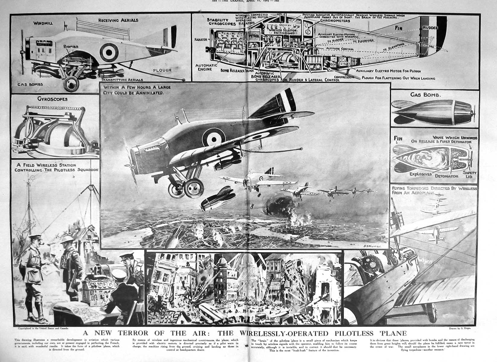 [Print 1925 Theatre Laye Gay Hale Lupino Long Forbes-Robertson Pilotless 584Tm211 Old Original]