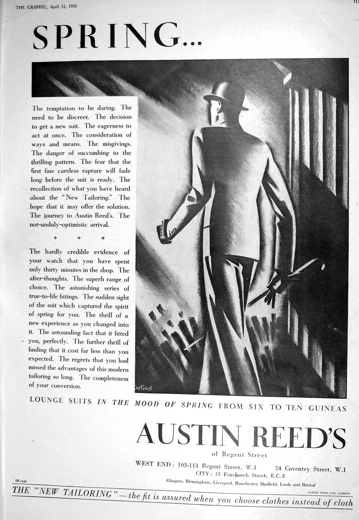 [Print 1930 Austin Reed Tailoring Stetson Hats Castell Garden Olympia Ex 113M228 Old Original]