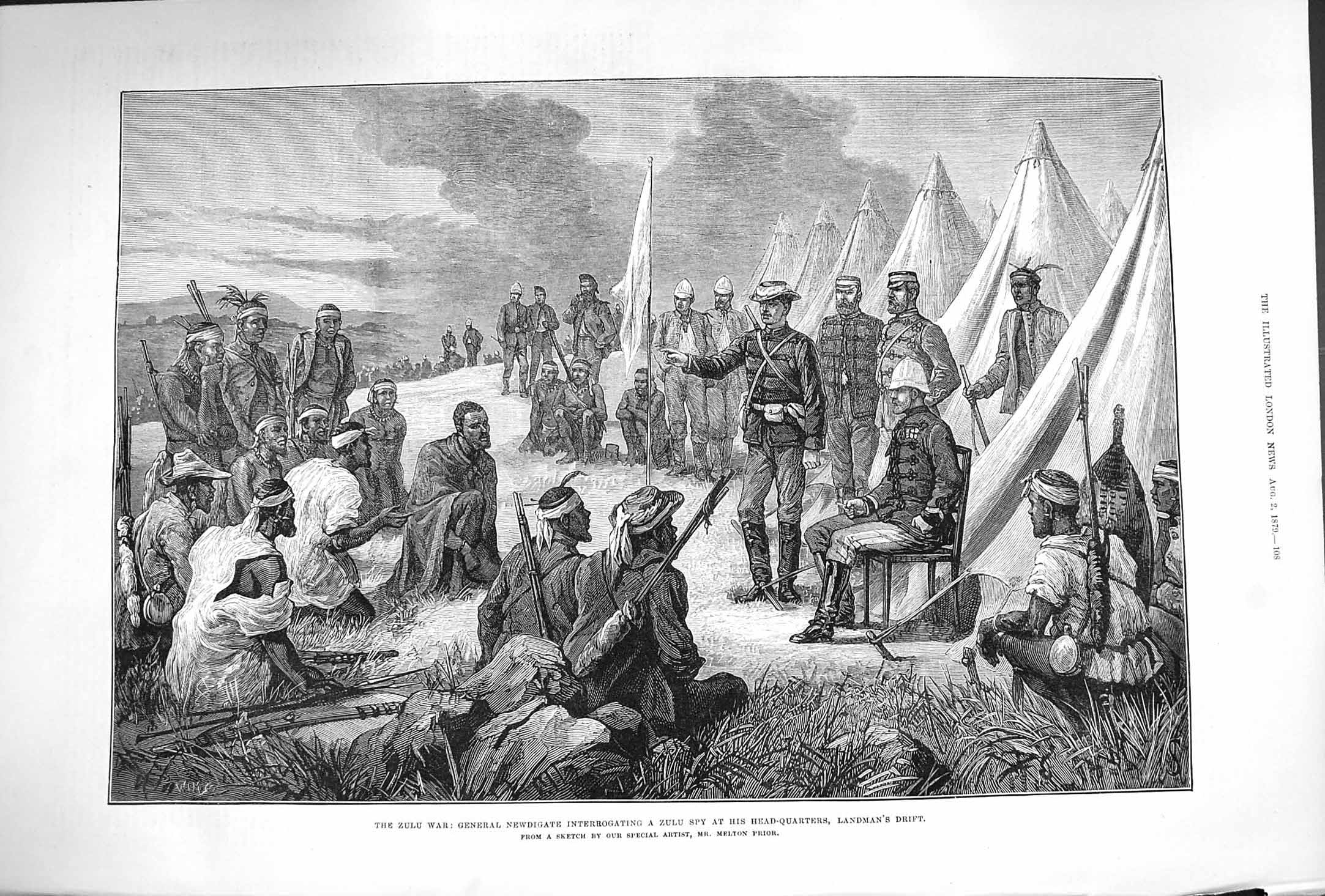 [Print 1879 Zulu War General Newdigate Spy Landman'S Drift 108P175 Old Original]
