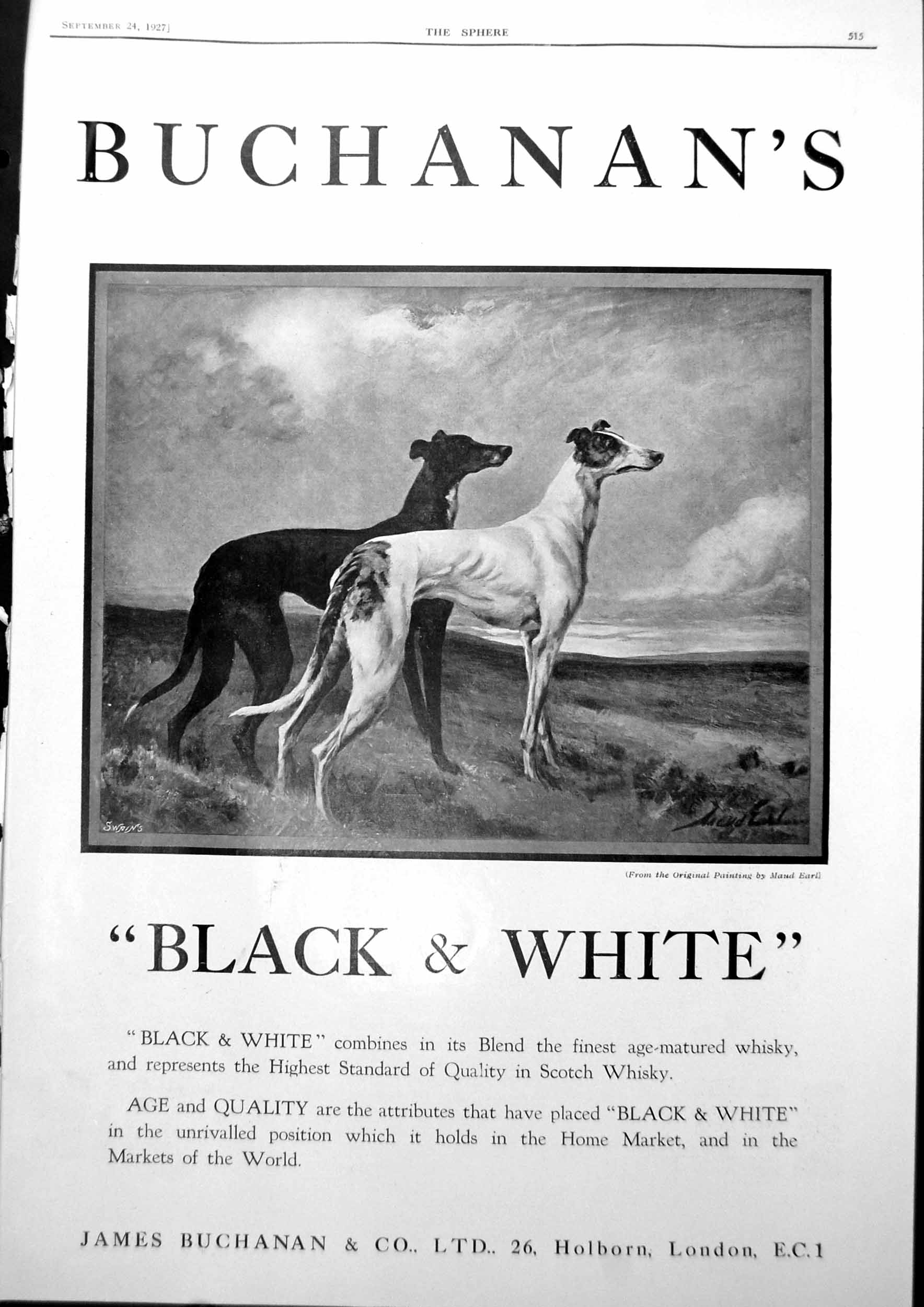 [Print Black And White Advert Dogs Marmon Showrooms London 1927 515G610 Old Original]