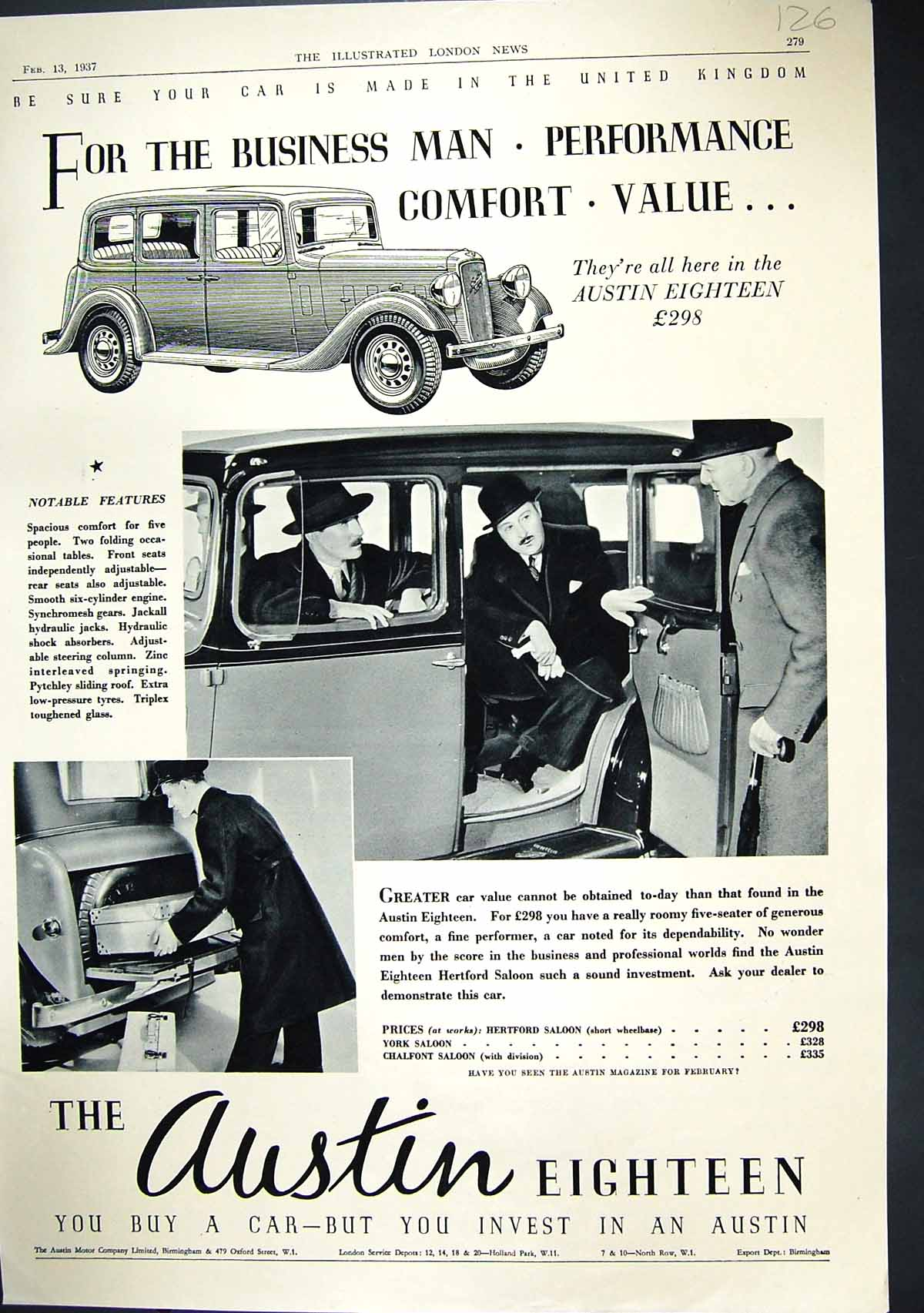 [Print 1937 Austin Motor Car Company Morocco North Africa Air France 126J338 Old Original]
