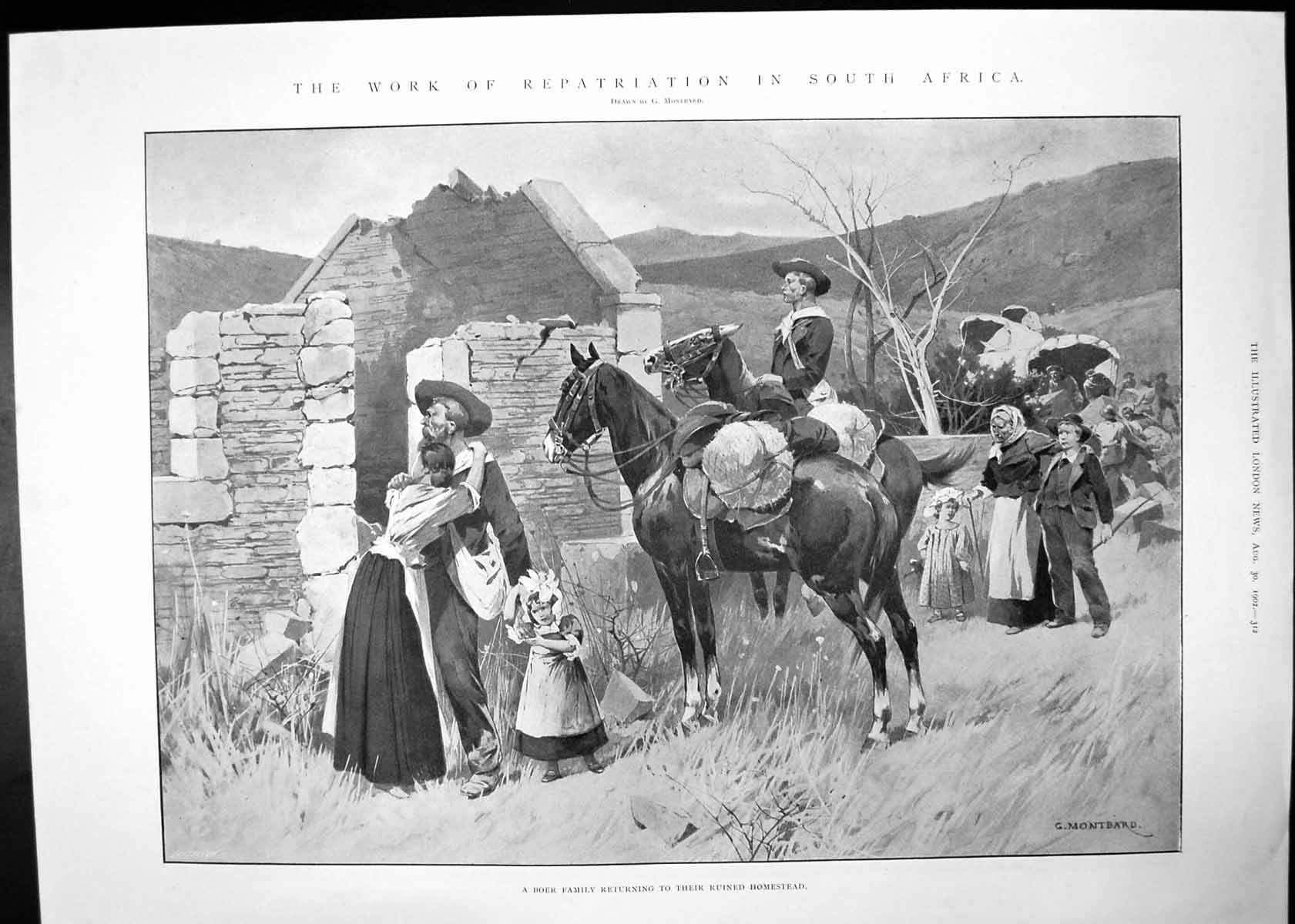[Print Repatriation South Africa Theres Many A Slip Theatre Scene 1902 132J702 Old Original]