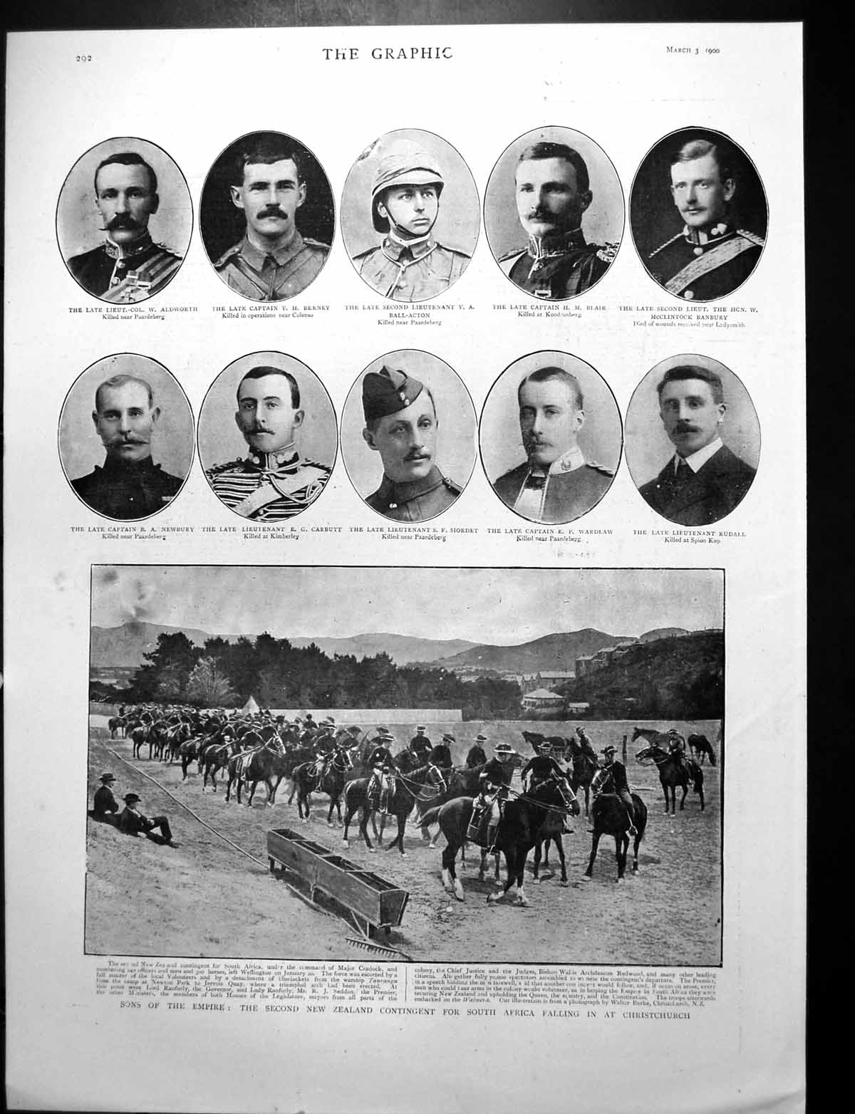 [Print Second New Zealand Contingent For South Africa Falling In 1900 132J764 Old Original]