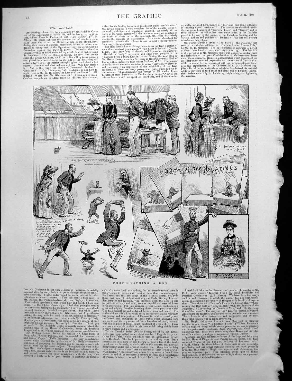 [Print Photographing A Dog Difficulties Silvia Myers Brother Leo 1890 284Rj764 Old Original]