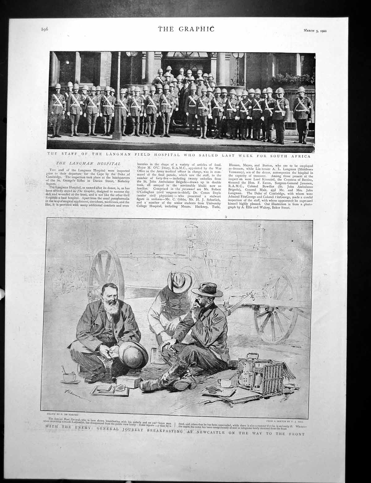 [Print General Joubert Boer War Troops Bound For South Africa 1900 400Rj764 Old Original]