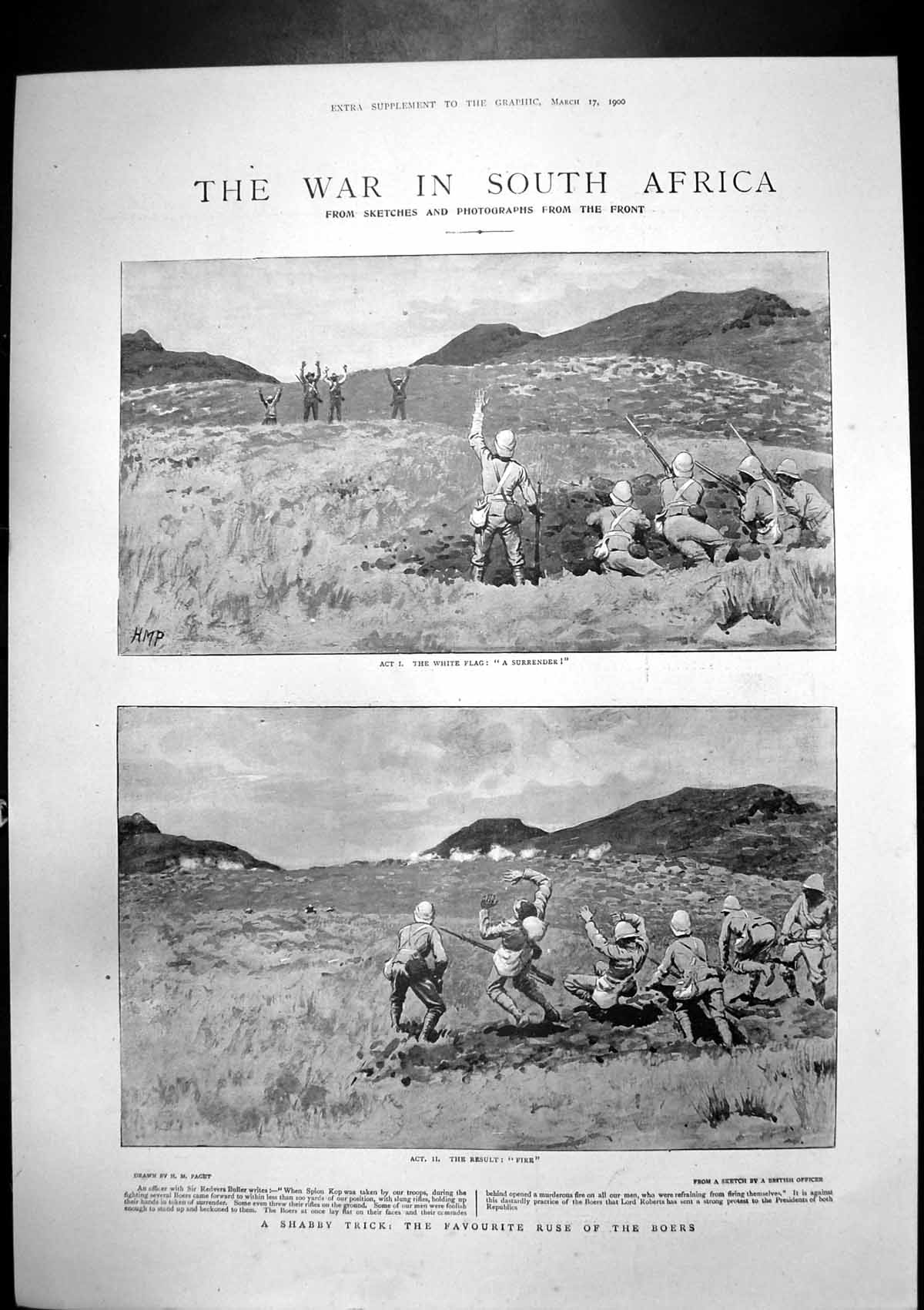 [Print War South Africa Canadas Contingent Thorneycrofts Infantry 1900 369J765 Old Original]