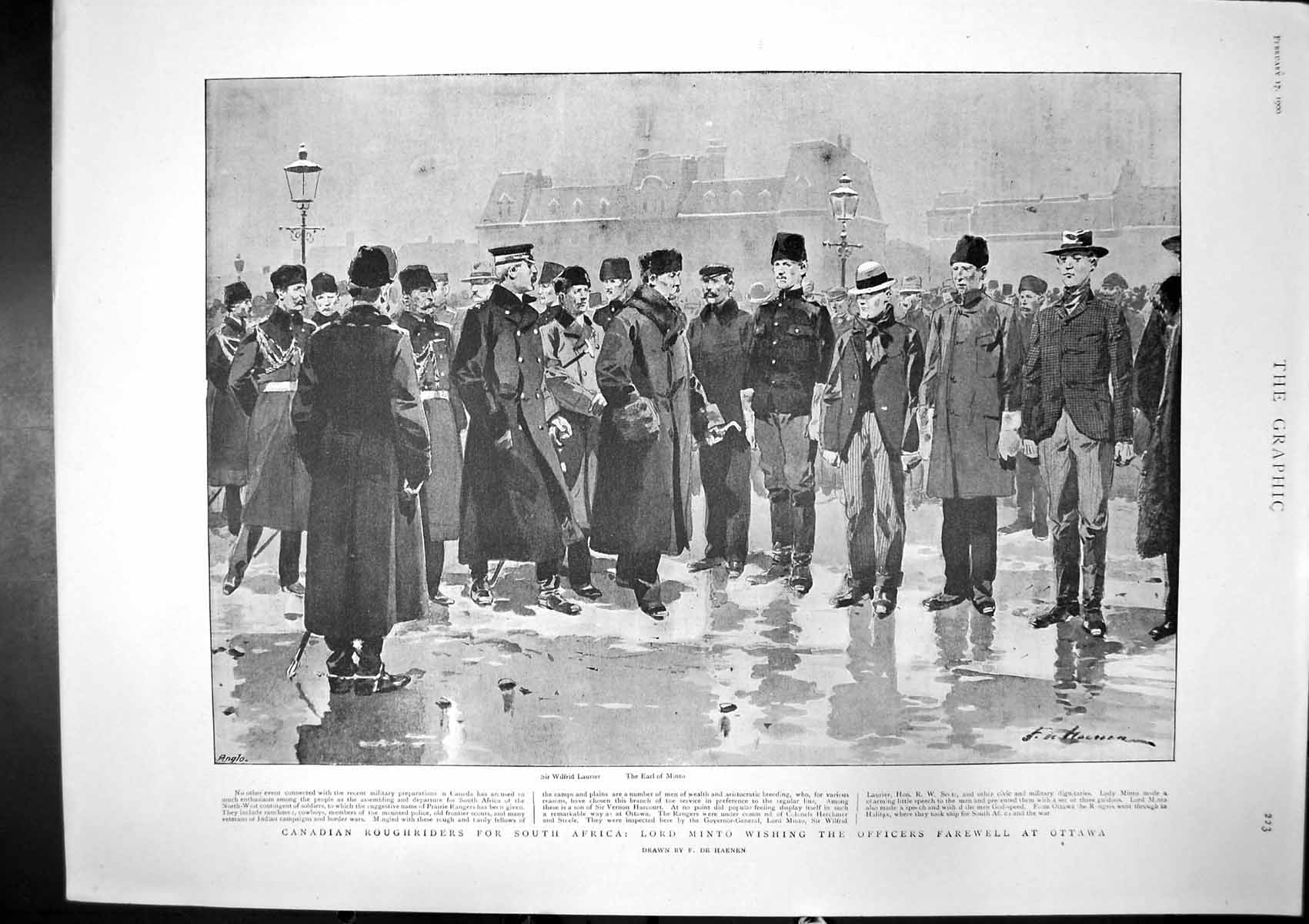 [Print Canadians South Africa Lord Minto Blizzard Black Sea 1900 395J765 Old Original]