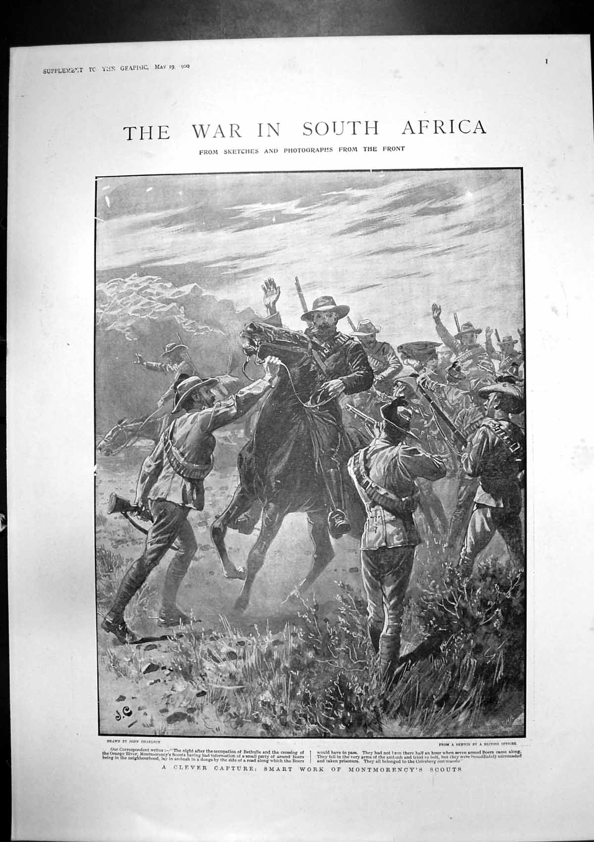[Print War S Africa Montmorencys Scouts Lord Roberts Free State 1900 406J765 Old Original]