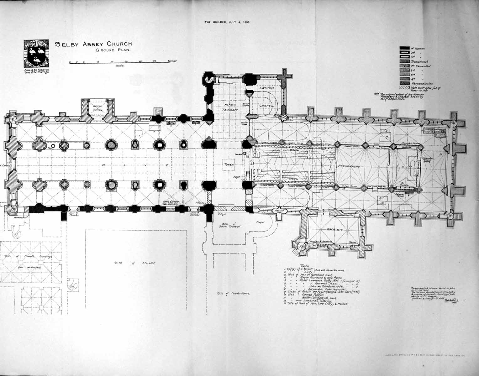 100 Westminster Abbey Floor Plan Burning Of