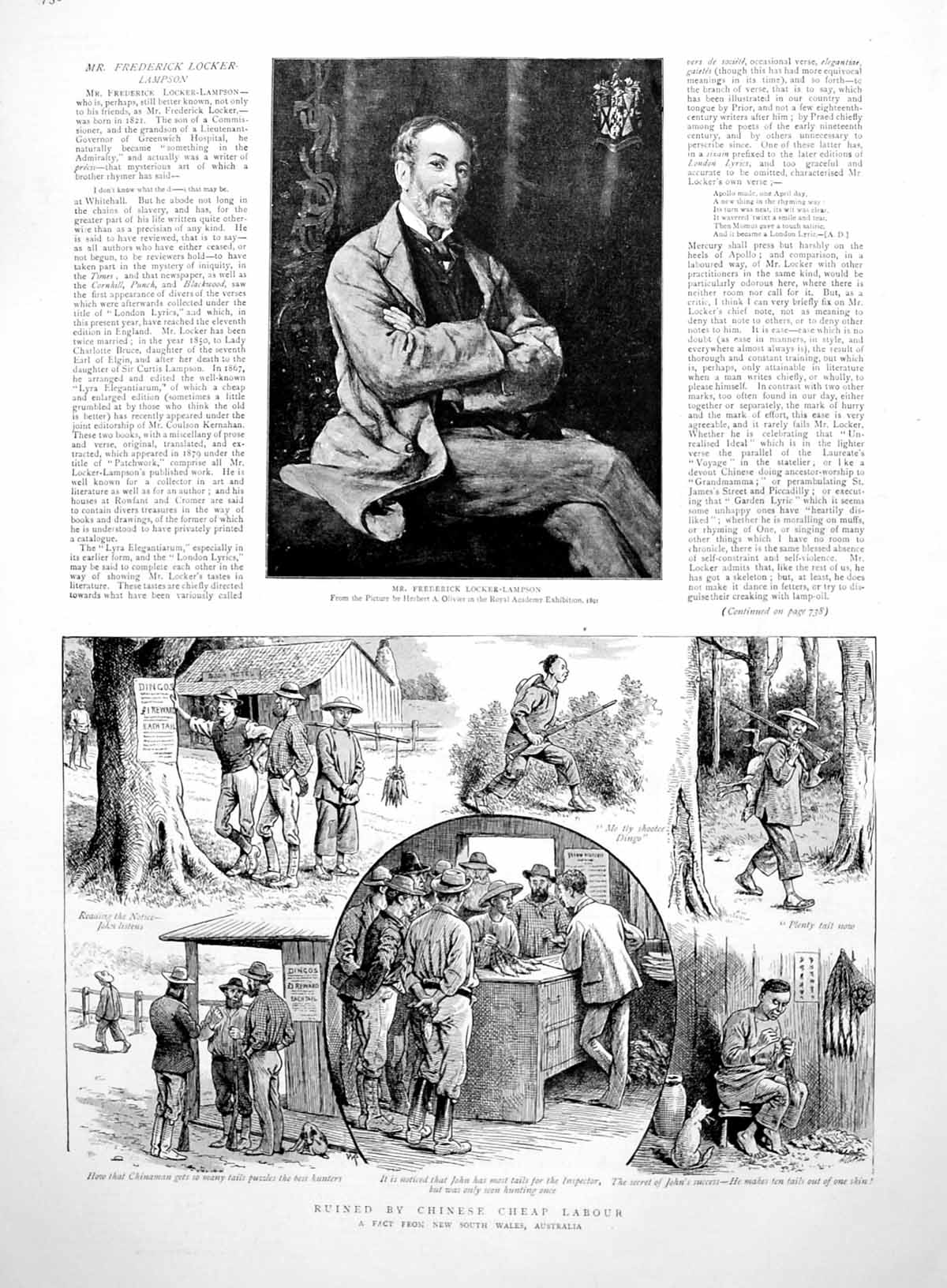 [Print Prints Locker-Lampson Dingo Reward Nsw Randolph Churchill S Africa 1891 736M009 Old Original]