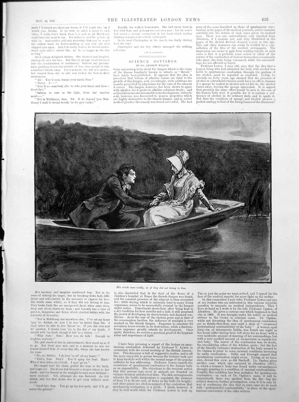 [Print Man Grasp Lady'S Hand Boat Springbok Hunting S Africa 1893 635Rp203 Old Original]
