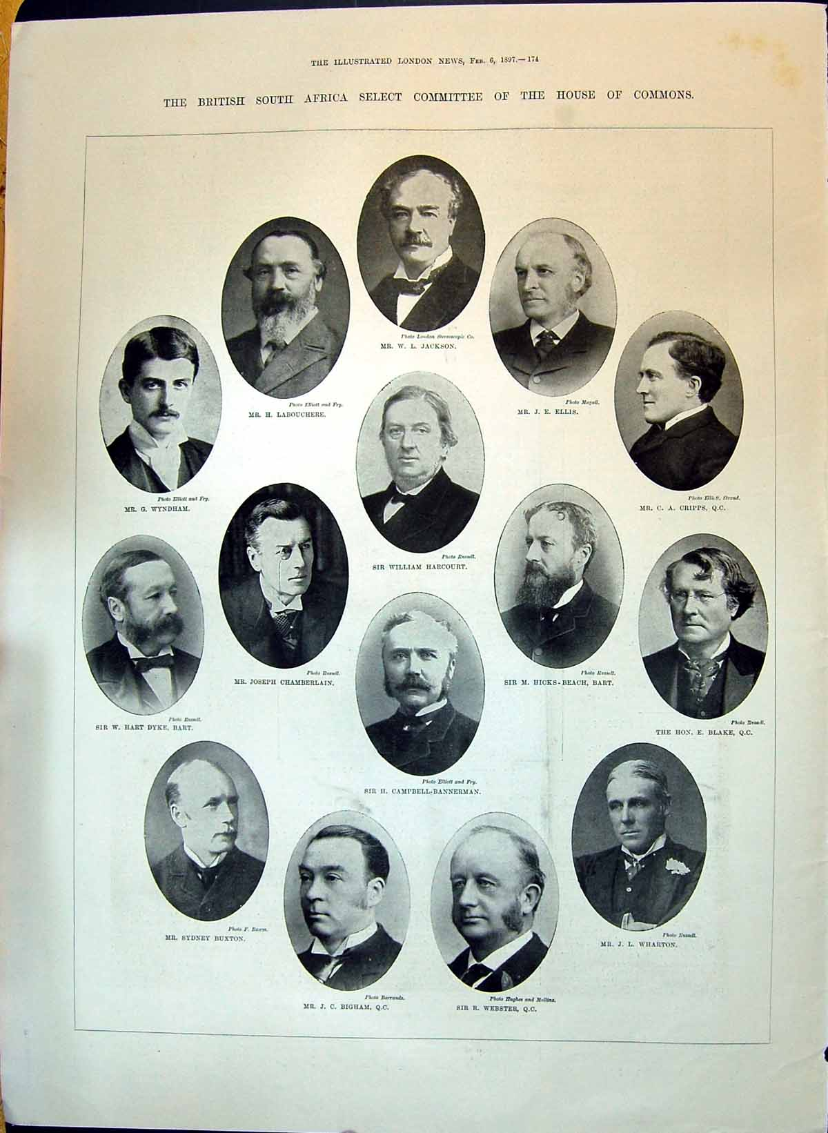 [Print 1897 British South Africa Select Committee House Commons Dr. Nans 174P210 Old Original]