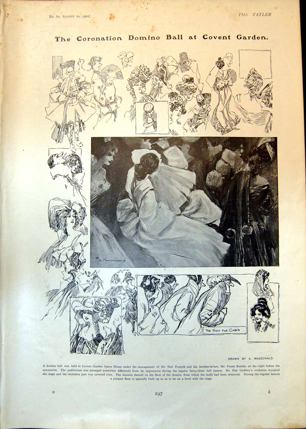 [Print Coronation Domino Ball Queen Medals Yeomanry Hospitals 1902 297Q005 Old Original]