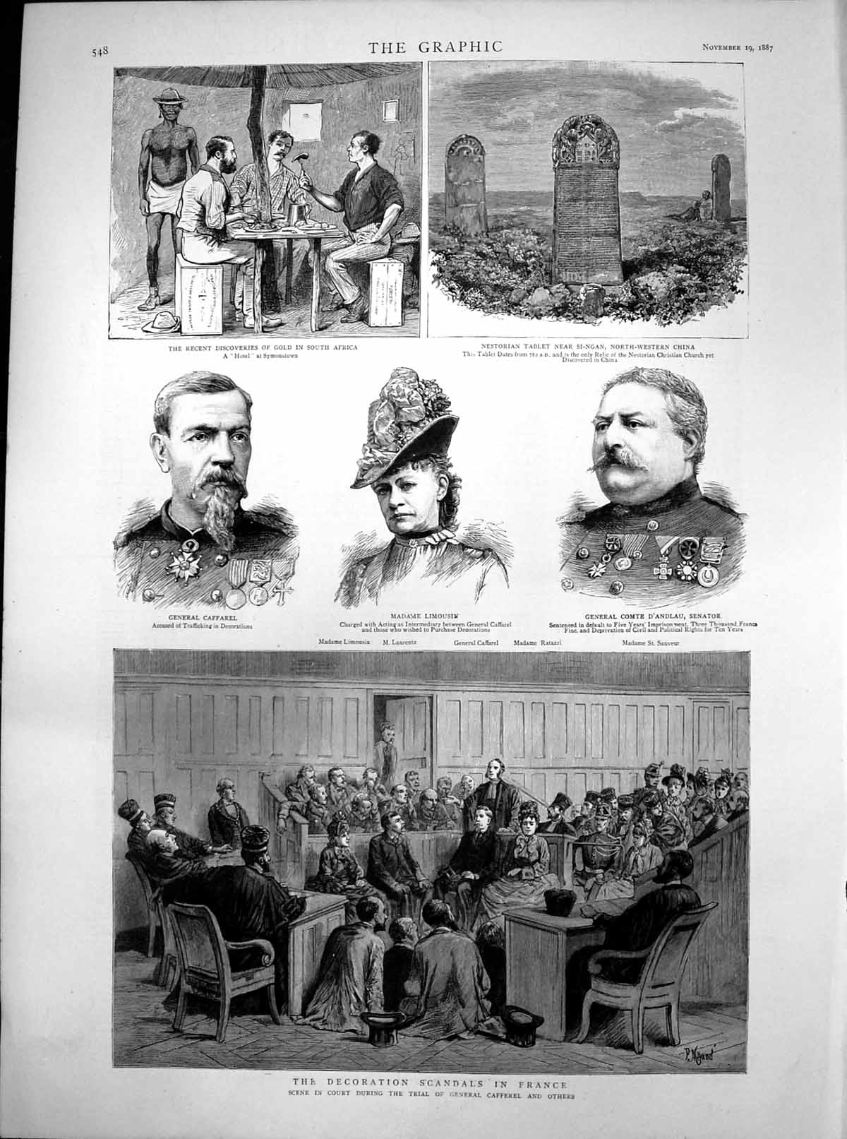 [Print Discoveries Gsouth Africa Decoration Scandals France 1887 468T112 Old Original]