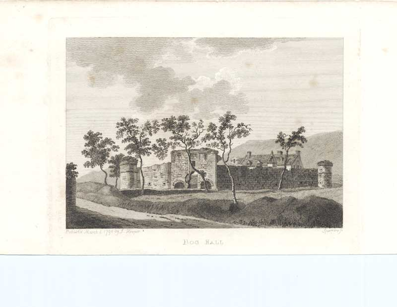 [Old Antique Print Bog Hall Antiquities Scotland 1790 143221 ]