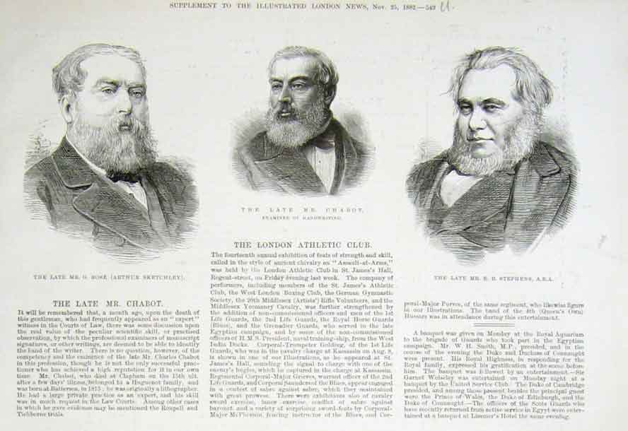Old Antique Print Portraits Rose Chabot Stephens 1882 49UAAA1