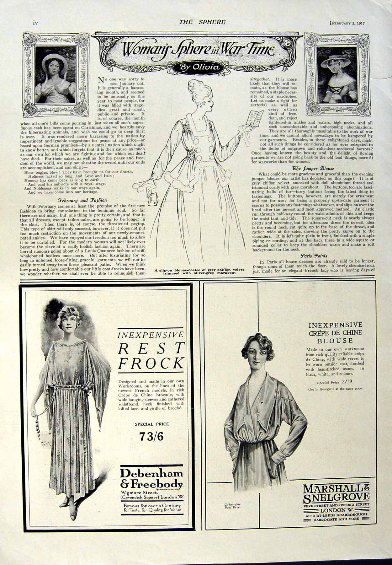 Old-Vintage-Print-Trench-Coat-Advertisement-1917-Buick-Car-Sunbeam-Frock-20th