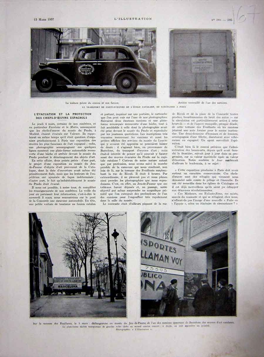 Old-Antique-Print-Spanish-Transport-Barcelona-Paris-Catalanes-French-193-20th