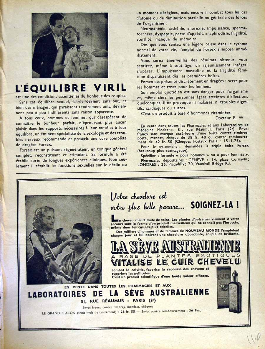 [Old Antique Print Advertisement Le Rire French Humor Magazine Chevelu 116E349 ]