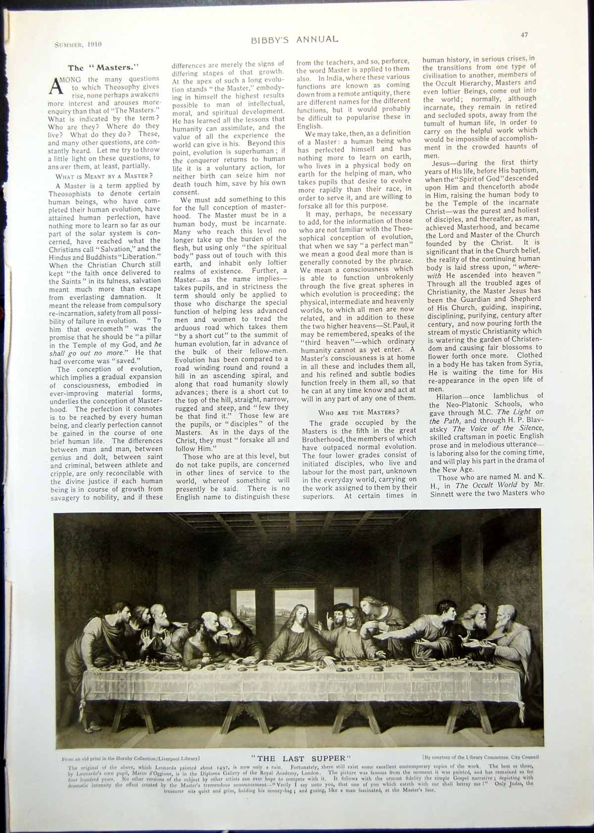 Old Antique Print The Last Supper Caught Out Cn Nemy Boat Stormy Sea 1910 20th