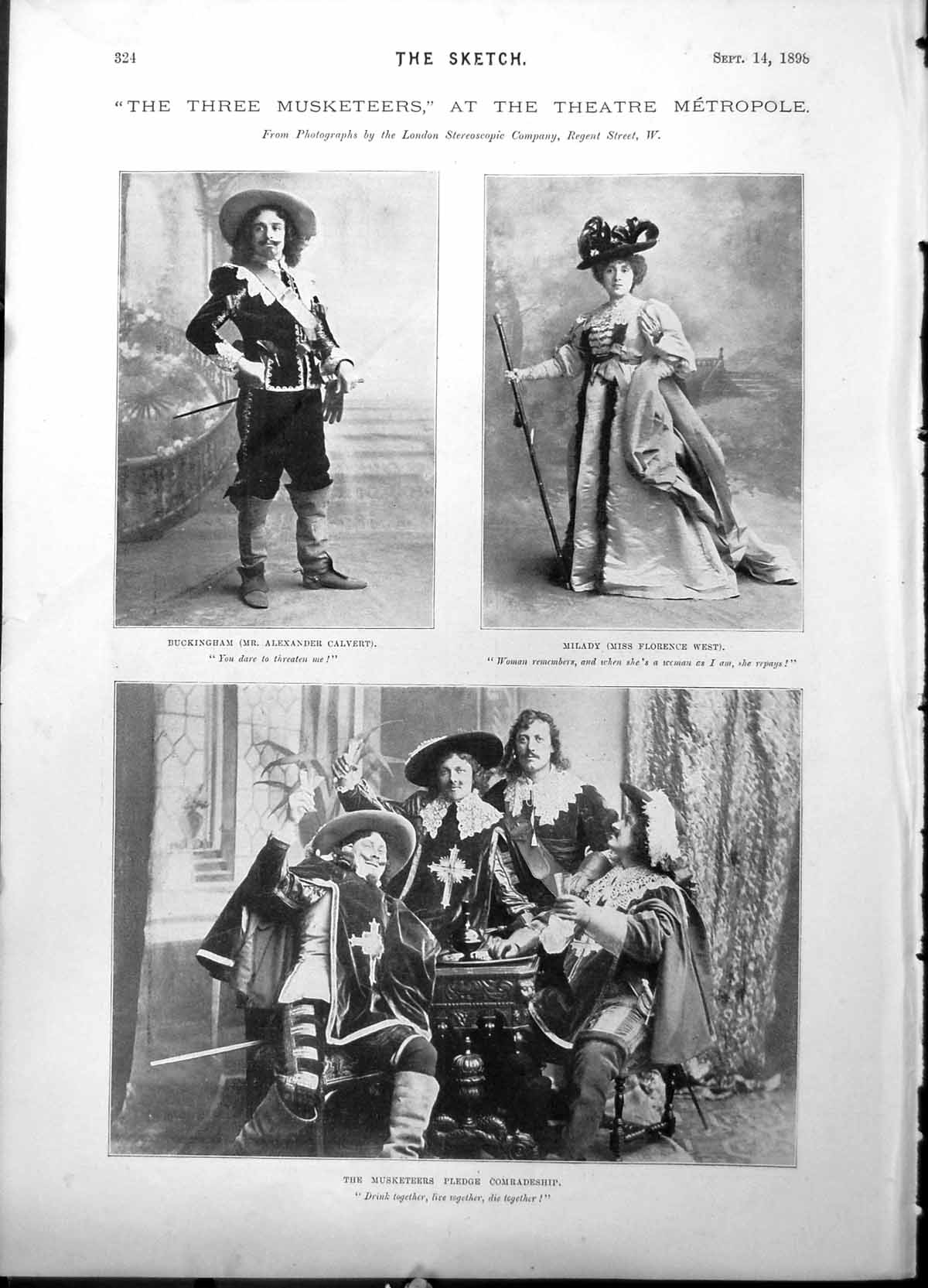 Old-Three-Musketeers-Metropole-A-Calvert-Florence-West-G-Mackay-1898-Victorian